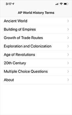 EKM Studios - Mobile Apps - AP World History Terms